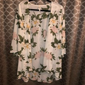 Tops - Floral Cover Up